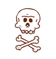 Hand Drawn Skull and Bones vector image