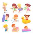 happy children having fun isolated set on white vector image vector image