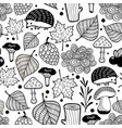hedgehog seamless pattern with nature elements vector image