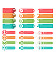 infographic elements collection in flat style vector image