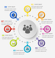 infographic template with office icons vector image vector image