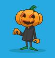 jack pumpkin halloween vector image