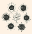 label set for restaurant menu design vector image