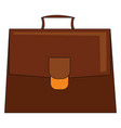 large brown briefcase or color vector image