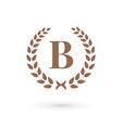 Letter B laurel wreath logo icon vector image