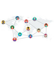 long banner - concept social networking vector image vector image