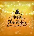 merry christmas gold glitter lettering design vector image vector image