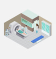 nuclear medicine isometric composition vector image vector image