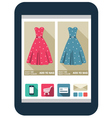 Online shop on the tablet screen vector image vector image
