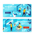 online voice search banner templates set vector image