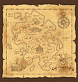 pirate treasure map hand drawn vector image vector image