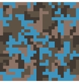 Pixel camo seamless pattern Fashion blue trendy vector image vector image