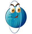 Planet with happy face vector image vector image