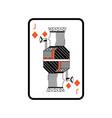 poker playing card jack diamond vector image