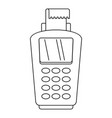 pos terminal icon outline style vector image vector image