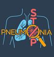 poster pneumonia vector image vector image