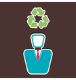 recycle symbol on human head vector image vector image