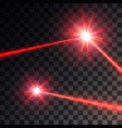 red laser beam set vector image vector image