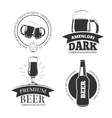 Retro beer goods emblems labels badges vector image