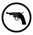 Revolver button on white vector image vector image