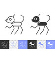 robot dog simple black line icon vector image vector image