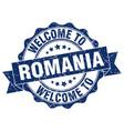 romania round ribbon seal vector image vector image
