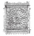rose window radiating in a form suggestive vector image vector image