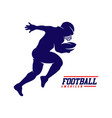 running american football player logo silhouette vector image