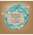 save the date round vector image vector image