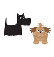 scottish terrier black dog scottie puppy shih tzu vector image