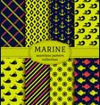 sea and nautical patterns set vector image vector image