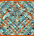 seamless background in the bohemian style vector image vector image