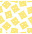 seamless pattern with slices cheese healthy vector image