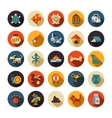 Set of flat design pet shop icons vector image vector image