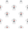 shirt i love mom pattern seamless vector image vector image