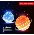 Social Worlds Abstract Background vector image vector image
