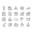 soil line icon set vector image vector image