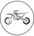 sport motorcycle bike vector image vector image