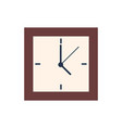 square clocks isolated wall watch showing 5 oclock vector image vector image