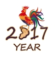 The stylized image 2017 fire rooster vector image vector image