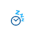 time sleep logo icon design vector image vector image