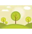 Trees on a hill vector image vector image