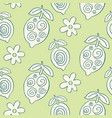 tropical leaves seamless pattern modern lemons vector image