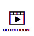 video icon flat vector image vector image