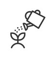 water can watering plant icon vector image