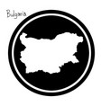 white map of bulgaria on black vector image vector image