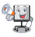 with megaphone prestation board chart blank on vector image