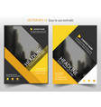 yellow abstract brochure annual report leaflet vector image vector image