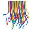 festive color ribbon design element vector image