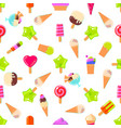 seamless pattern with many sweets vector image